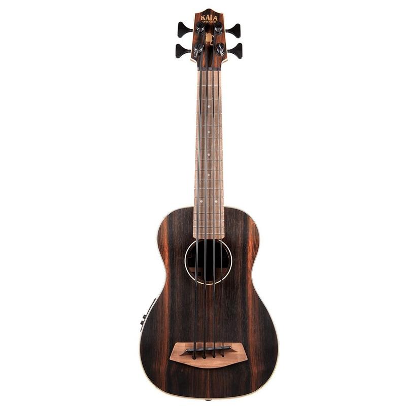 Kala Ebony Acoustic-Electric U-Bass, Fretted with Gig Bag