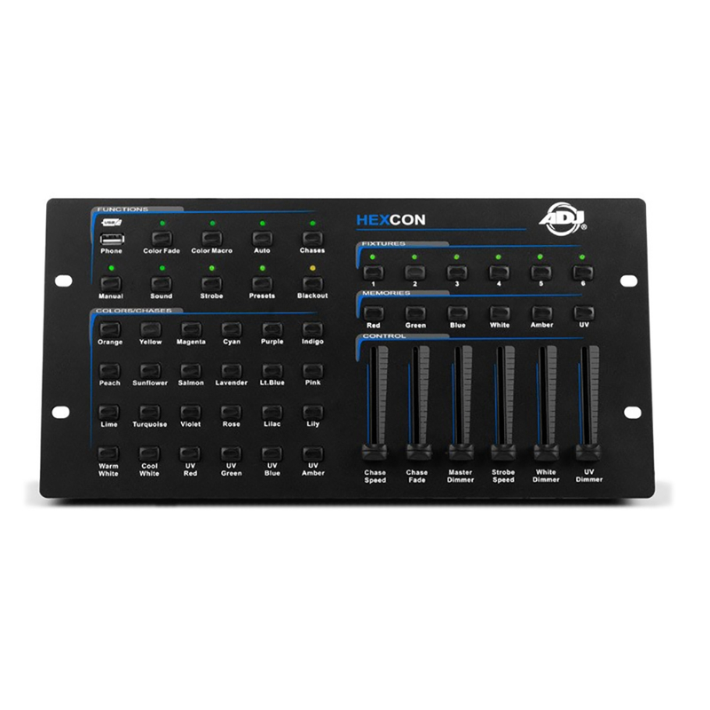 American DJ HEXCON Compact DMX512 Controller for RGBWA+UV LED Fixtures
