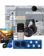 Presonus AudioBox + Samson C01 Mic + Headphone + Stand + Recording Bundle Studio