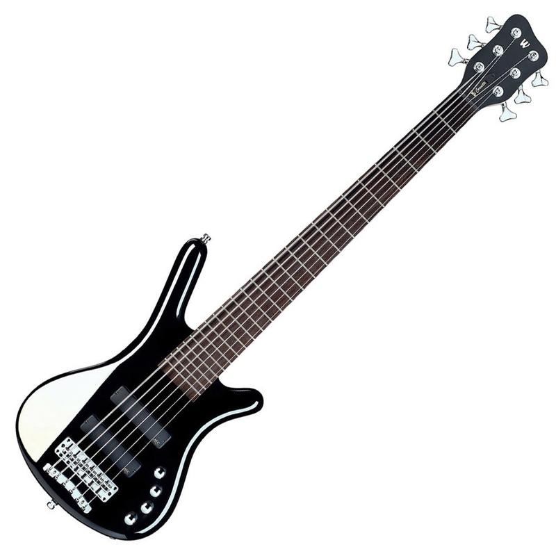 Warwick RockBass Corvette Basic 6-String Active Fretted Bass Guitar (Black)