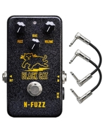 Black Cat Pedals N-Fuzz Guitar Effects Pedal with Patch Cables
