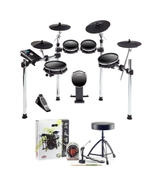 Alesis DM10 MKII Studio 9-Piece Electronic Drum Kit with Accessory Pack (Headphones, Sticks, Throne, and Pedal)