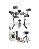 Alesis DM6 USB Kit 5-Piece Electronic Drum Kit with Accessory Pack (Headphones, Sticks, Throne, and Pedal)