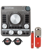 Arturia AudioFuse USB Audio Interface Space Grey with MXL Microphone Set and XLR Cables