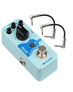 Mooer Baby Water Acoustic Guitar Delay & Chorus Pedal with Patch Cables