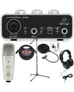 Behringer UM2 USB Interface Recording Bundle with C1 Microphone