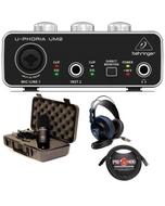 Behringer UM2 USB Interface Recording Bundle with MXL 770 Microphone