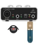 Behringer UM2 USB Interface Recording Bundle with MXL V67G Microphone