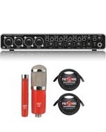 Behringer U-PHORIA UMC404HD USB Audio/MIDI Interface with MXL Microphone Set and XLR Cables