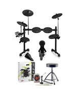 Behringer XD8USB 8-Piece Electronic Drum Kit with Accessory Pack (Headphones, Sticks, Throne, and Pedal)