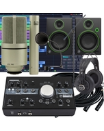 Mackie Big Knob -24 Bit 192 kHz, Audio/MIDI Interface + Mackie CR4 Monitors Recording Bundle