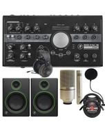 Mackie Big Knob Studio Plus -24 Bit 192 kHz, Audio Interface + Mackie CR4 Monitors Recording Bundle
