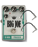 Big Joe Stomp Box Company R-408 Raw Series Phaser Guitar Effects Pedal with Patch Cables