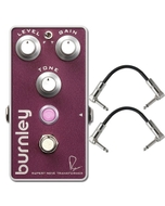 Bogner Amplification Burnley Classic Distortion Guitar Effects Pedal with Patch Cables