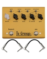 Bogner Amplification La Grange Overdrive & Boost Guitar Effects Pedal with Patch Cables