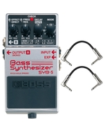 BOSS SYB-5 Bass Synthesizer Guitar Effects Pedal with Patch Cables