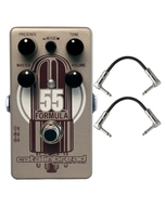 Catalinbread Formula No. 55 Overdrive Vintage Tweed Guitar Effects Pedal with Patch Cables