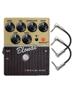 Tech 21 Character Series Blonde V2 Overdrive Guitar Effects Pedal with Patch Cables