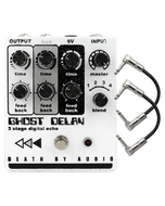 Death by Audio Ghost Delay Digital Dealy Guitar Effects Pedal with Patch Cables