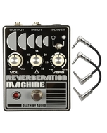 Death by Audio Reverberation Machine Reverb Guitar Effects Pedal with Patch Cables