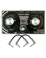 Death by Audio Echo Master Lo-Fi Echo Guitar Effects Pedal with Patch Cables