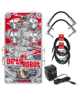 DigiTech Dirty Robot Stereo Mini Synth Guitar Effects Pedal with Cables and Power Supply
