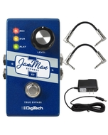 DigiTech JamMan Express XT Stereo Looper Pedal with Power Supply and Patch Cables