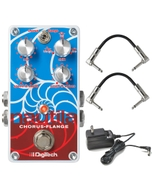 DigiTech Nautila Digital Chorus/Flanger Guitar Effects Pedal with Patch Cables and Power Supply