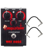 Way Huge Conquistador Fuzzstortion Guitar Effects Pedal and Patch Cables
