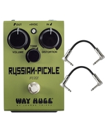 Way Huge Russian Pickle Fuzz Guitar Effects Pedal and Patch Cables