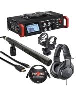 Tascam DR-701D + Audio Technica M20x + Rode NTG2 & HDMI Cable Bundle