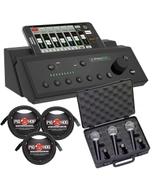 Mackie DX8 Digital PA Mixer + Microphones & Cable Bundle
