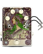 FuzzHugger Algal Bloom V2 Fuzz Guitar Effects Pedal with Patch Cables