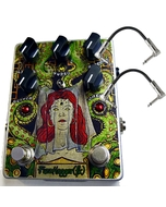 FuzzHugger Phantom Arcade Ocatave/Ring Modulator Guitar Effects Pedal with Patch Cables