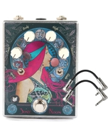 FuzzHugger Sonic Bloom Fuzz Guitar Effects Pedal with Patch Cables