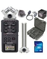 Zoom H6 Portable Handheld Recorder with Case, Accessory Pack, 32GB Card, and SGH6 Attachment
