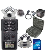 Zoom H6 Portable Handheld Recorder with Case, Accessory Pack, 32GB Card, and XYH5 Attachment