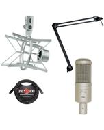 Heil Sound PR 40 Dynamic Studio Microphone Bundle with PRSM Shock Mount, PL2T Overhead Broadcast Boom, and XLR Cable