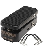Hotone Bass Press 3 in 1 Volume/Wah/Expression Bass Guitar Effects Pedal with Patch Cables