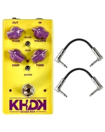 KHDK Scuzz Box Geranium-voiced Fuzz Guitar Effects Pedal with Patch Cables