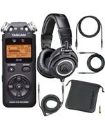 Tascam DR-05 PCM Portable Digital Recorder & Audio Technica M50X Headphones