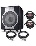 """M-Audio BX 240W 10"""" Active Powered Subwoofer and Cables"""