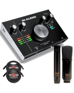 M-Audio M-Track 2x2 2-Channel USB Interface with MXL 440/441 Mic Set and Cables