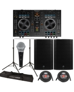 "Denon DJ MC4000 DJ Player & Controller + Mackie Thump 15A 1300W 15"" Powered Speakers"