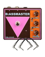 Malekko Heavy Industry Corporation B:ASSMASTER Harmonic Octave Analog Distortion Guitar Effects Pedal with Patch Cables