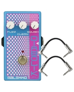 Malekko Heavy Industry Corporation Diabolik Justin Meldal-Johnsen Signature Analog Fuzz Guitar Effects Pedal with Patch Cables