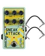 Malekko Heavy Industry Corporation Sneak Attack Attack/Decay & Tremolo Guitar Effects Pedal with Patch Cables