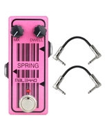 Malekko Heavy Industry Corporation Spring Omicron Series Spring Reverb Emulator Guitar Effects Pedal with Patch Cables