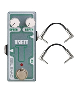 Malekko Heavy Industry Corporation Trem Omicron Series Analog Tremolo Guitar Effects Pedal with Patch Cables