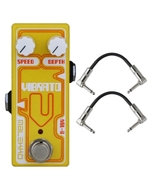Malekko Heavy Industry Corporation Vibrato Omicron Series Analog Vibrato Guitar Effects Pedal with Patch Cables